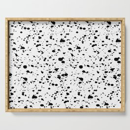 Paint Spatter Black and White Serving Tray