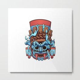 Tlaloc Vessel Metal Print