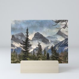 The Three Sisters - Canadian Rocky Mountains Mini Art Print