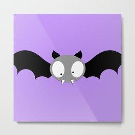 Gone Batty Cute Bat Digital Print Metal Print
