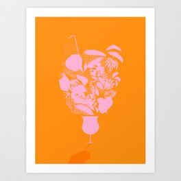 Sunny Tropical Cocktail #tropicalvibes #pattern Art Print