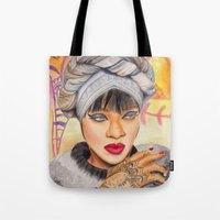 rihanna Tote Bags featuring RIHANNA by Share_Shop