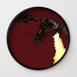Skyrim Fire Breathing Dragon Wall Clock
