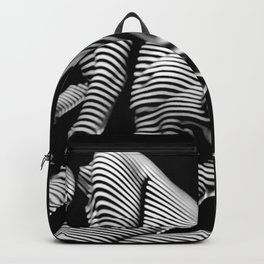 8416-KMA BW Fine Art Nude Woman Toes Striped Foot Up Backpack