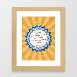 Given Away Framed Art Print