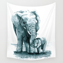 My Little Peanut (Elephants) Wall Tapestry