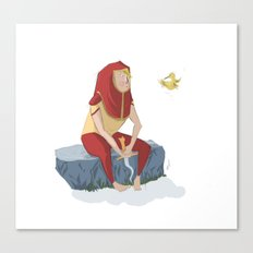 henon and his bird Canvas Print
