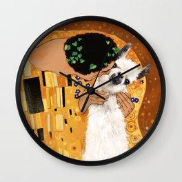 Llama THE KISS Wall Clock