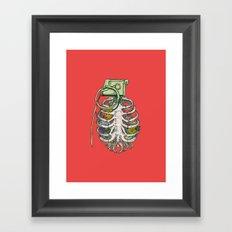 Grenade Garden Framed Art Print