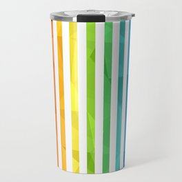 RAINBOW + WHITE Travel Mug