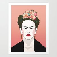 frida Art Prints featuring Frida by Amanda Corbett