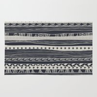 aztec Area & Throw Rugs featuring aztec by spinL