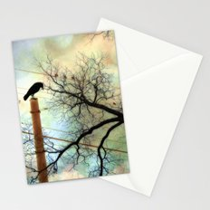 Gothic Surreal Nature Trees With Raven Crows Stationery Cards