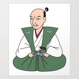 Nobunaga_japanese historical hero  Art Print