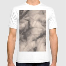 Texture White Mens Fitted Tee MEDIUM