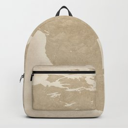 North American Travel Map Backpack