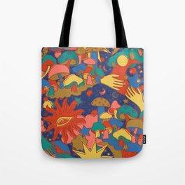 Celestial Mushroom Dream Tote Bag