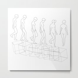 The Nude Descending a Staircase No. 3 Metal Print