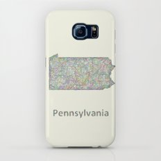 Pennsylvania map Slim Case Galaxy S6