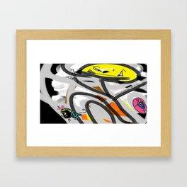 The Cat, The Bee & The Eye Framed Art Print