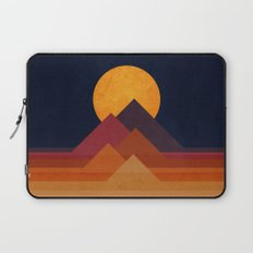 Full moon and pyramid Laptop Sleeve