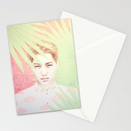 Red Palms Stationery Cards
