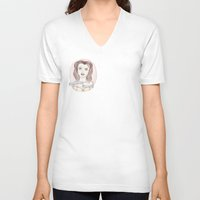 patriarchy V-neck T-shirts featuring Princess Against Patriarchy by ScarletConquering