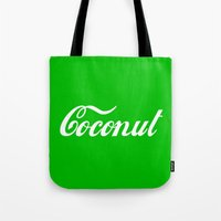 coconut wishes Tote Bags featuring Coconut by Tshirtbaba