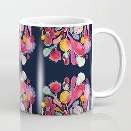 Midnight Blue Floral Coffee Mug