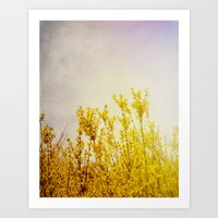 coldplay Art Prints featuring And it Was All Yellow by Olivia Joy StClaire