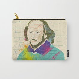 Portrait of William Shakespeare-Hand drawn Carry-All Pouch
