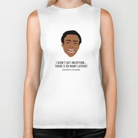 inception Biker Tanks featuring I Didn't Get Inception! by She's That Wallflower