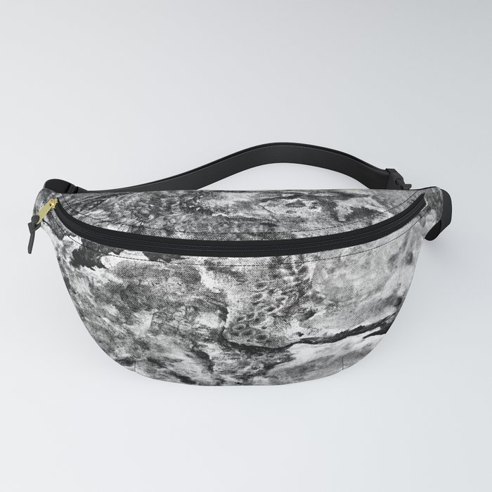 Lands Unknown Black and White Fanny Pack