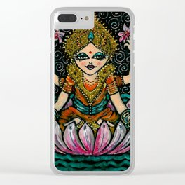YOGA           Sacred Water Lilly Clear iPhone Case