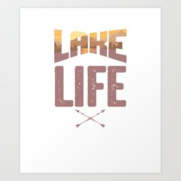 Lake Life Boating Fishing Canoe Canoeing Kayaking Water Adventure Gift Art Print
