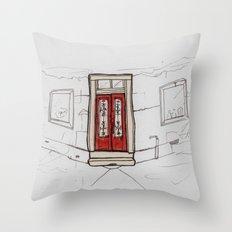 Red Doors  Throw Pillow