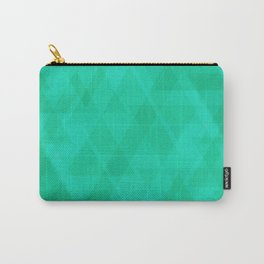 Bright marine triangles in intersection and overlay. Carry-All Pouch