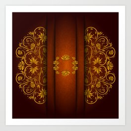 Abstract floral orament Art Print