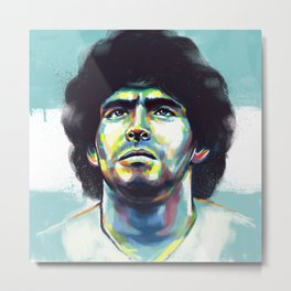 Maradona Metal Print