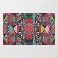 african Area & Throw Rugs featuring AFRICAN MOTIF  by Vasare Nar