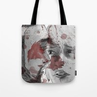 dead space Tote Bags featuring DEAD SPACE by Miss Kicks