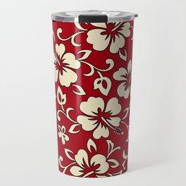 Malia Hawaiian Hibiscus Aloha Shirt Print Travel Mug