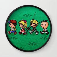 earthbound Wall Clocks featuring Earthbound Guys by likelikes