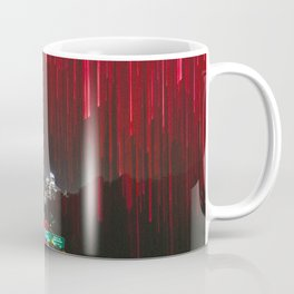 Lights and the LA Skyline at Night Coffee Mug