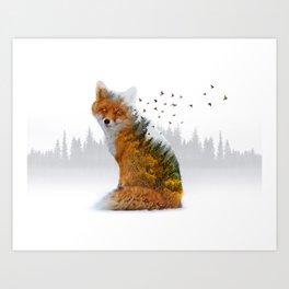 Wild I Shall Stay | Fox Art Print