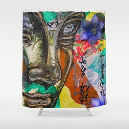 Gazing Buddha Shower Curtain