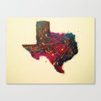 texas Canvas Prints featuring Texas by Kat's Artwork