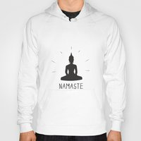 namaste Hoodies featuring NAMASTE by MantiniDesign