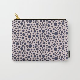 Hand drawn polka dot pattern - Navy Carry-All Pouch
