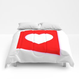 Valentine Heart Background Comforters